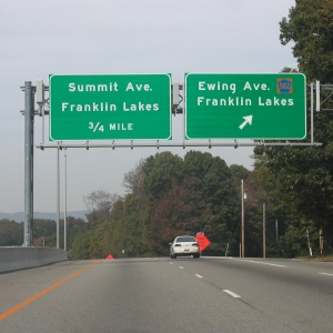 Panels on highway signs