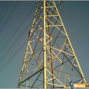 Antennas mounted on a utility tower